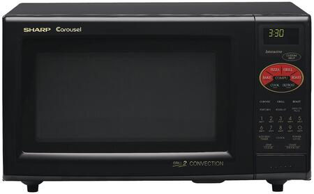 Sharp R 820b 0 9 Cu Ft Countertop Microwave Oven With 900 Cooking Watts