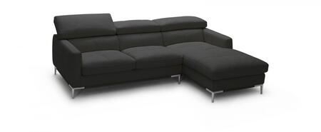 1281b italian leather sectional, right arm chaise facing, black 10