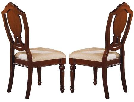 Acme Furniture 11833 Classique Series Traditional Fabric Wood Frame Dining Room Chair