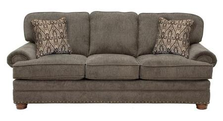 """Jackson Furniture Braddock Collection 4238-03- 93"""" Sofa with Rolled Arms, Nail Head Accents and Reversible Seat Cushions in"""
