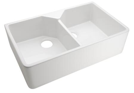 "Barclay FS 31.5"" Fireclay Double Bowl Farmer Sink with in"