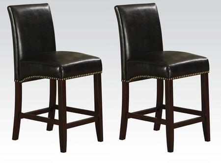 Acme Furniture 96171 Jakki Series Bycast Leather Upholstered Bar Stool