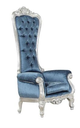 """Acme Furniture Raven 34"""" Accent Chair with Button Tufted Back, Rolled Arms, High Back, Wood Frame and Fabric Upholstery in"""