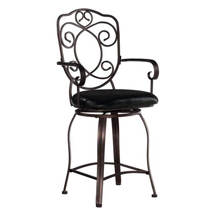 Linon 02786MTL01KDU Commircial or Contemporary PVC Upholstered Bar Stool