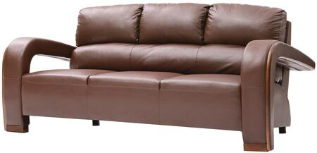 """Glory Furniture G400 Collection 79"""" Sofa with Wood Trim on Arms, Removable Arms, Split Back Cushions and Faux Leather Upholstery in"""