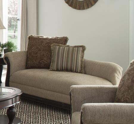 Coaster 550037 Beasley Series Traditional Fabric Wood Frame Chaise Lounge