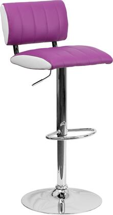 Flash Furniture CH122150PURGG Residential Vinyl Upholstered Bar Stool