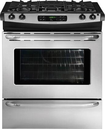 "Frigidaire FFGS3025LS Gas Sealed Burner 4 No Storage 30""Yes Slide-In Range 