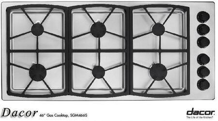 Dacor SGM466SLP  Liquid Propane Sealed Burner Style Cooktop