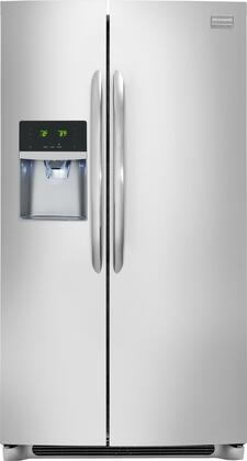 "Frigidaire FGHS2355PF 33"" Gallery Series Side by Side Refrigerator with 22.2 cu. ft. Capacity in Smudge-Proof Stainless Steel"