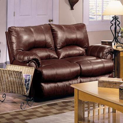 Lane Furniture 20421525017 Alpine Series Leather Match Reclining with Wood Frame Loveseat
