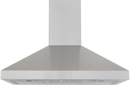 "Windster RA77XXSS XX"" Wall Mounted Range Hood With 640 CFM, Pyramid Shaped, Three Speed Display, 3W LED Lighting, 5.4 Sones, Dishwasher-Safe Aluminum Filters, In Stainless Steel"