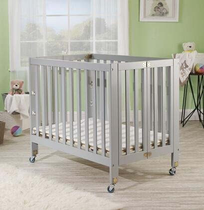 "Orbelle Roxy 1166 40"" Three Level Portable Crib with New Zealand Pine Construction, Mattress Included, Super Smooth Rubber Wheels and CPSA Approved in"