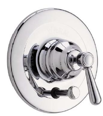 Rohl ARB2400LM Country Bath Collection Verona Pressure Balance Trim with Diverter, Metal Lever: