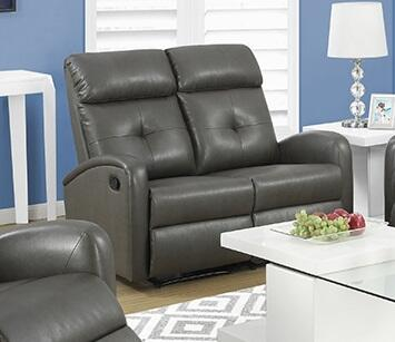 "Monarch I 88X 50"" Reclining Loveseat with Bonded Leather, Lumbar Support and Comfortably Padded"