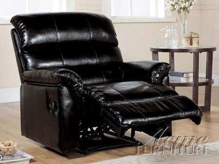 Acme Furniture 15110 Riva Series Contemporary Bonded Leather Wood Frame  Recliners