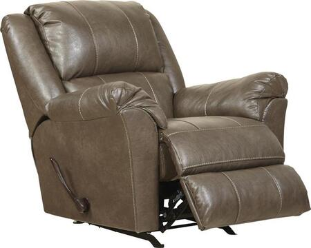 """Jackson Furniture Sullivan Collection 3188-11- 41"""" Rocker Recliner with Faux Leather Upholstery, Saddle Bag Arms and Decorative Double Needle Luggage Stitching in"""