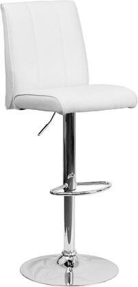 Flash Furniture CH122090WHGG Residential Vinyl Upholstered Bar Stool