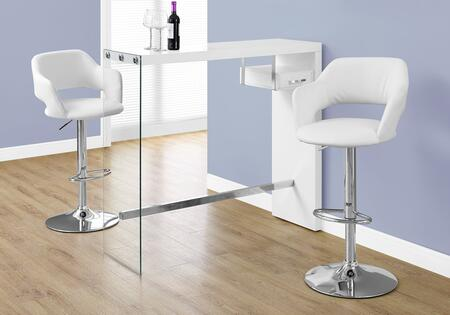 "Monarch I234BAR 48"" Home Bar with Chrome Stretcher, Tempered Glass Sides and Rectangular Top in"