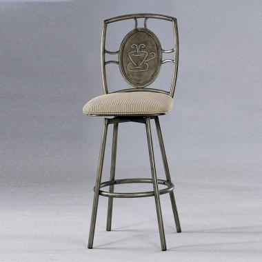 Chintaly 0212BS Residential Tan Upholstered Bar Stool