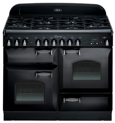 "AGA ALEG44-DFCD Legacy Series 44"" Freestanding 5.1 cu. ft. Total Capacity Dual Fuel Range with 2.4 cu. ft. Convection Oven, 2.2 cu. ft. Multifunction Oven, Storage Drawer and Broiling Oven"