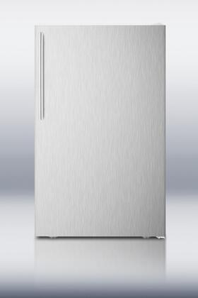 Summit CM405SSHV  Compact Refrigerator with 4.1 cu. ft. Capacity in Stainless Steel