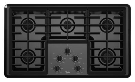 Whirlpool W5CG3625XB  Gas Sealed Burner Style Cooktop