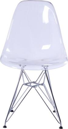 Fine Mod Imports FMI10088CLEAR Modern Not Upholstered Metal Frame Dining Room Chair