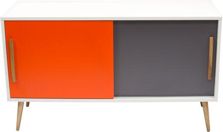 Diamond Sofa TANGENTCBWH Tangent Series Freestanding Wood None Drawers Cabinet