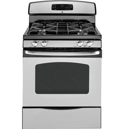 GE JGB295SERSS  Gas Freestanding Range with Sealed Burner Cooktop, 5.0 cu. ft. Primary Oven Capacity, Storage in Stainless Steel