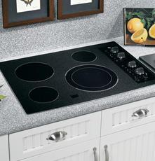 GE JP356BMBB CleanDesign Series Electric Cooktop, in Black