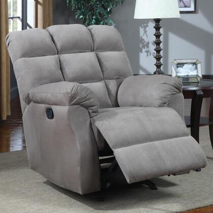 Coaster 601017 Recliners Series Casual Microfiber Wood Frame Rocking Recliners