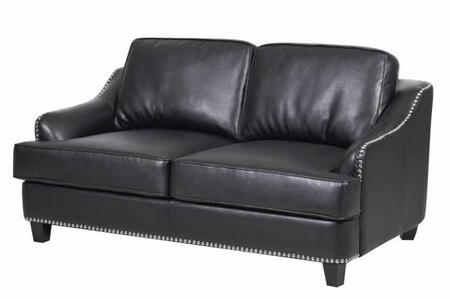 Coaster 504842 Layton Series Bonded Leather Stationary with Wood Frame Loveseat
