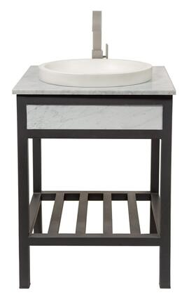 "Native Trails BNDC6 4-Piece Vanity Suite with 24"" Cuzco Vanity, Carrara Marble Top, Tolosa NativeStone Sink in and 1.5"" Push-to-Seal Drain"