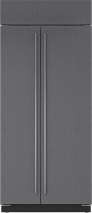 "Sub-Zero BI36SX 36"" Star K Built-In Side-by-Side Refrigerator with Freezer, 20.6 cu. ft. Capacity, Automatic Ice Maker, Water Filtration System, and Air Purification System, in"