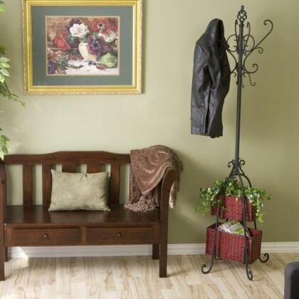 Holly & Martin HP338XR Hall Tree with Rattan Storage