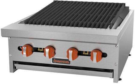 "Sierra SRRBx "" Radiant Broiler with Burners, BTU per Burner, Total BTU, in Stainless Steel"