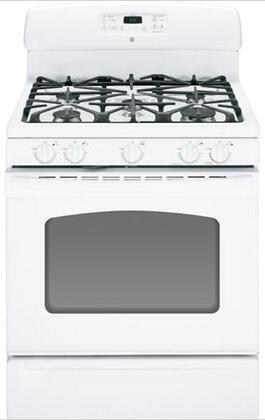GE JGB282DETWW  Gas Freestanding Range with Sealed Burner Cooktop, 5.0 cu. ft. Primary Oven Capacity, Storage in White