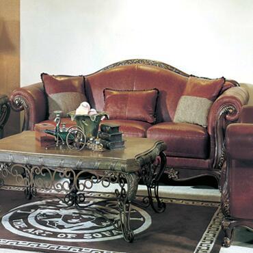 Yuan Tai PH1091S Phyllis Series Sofa Leather Sofa