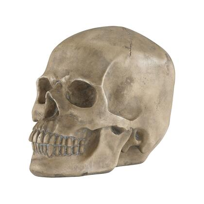 "Sterling Knell Collection 11"" Skull Accessory with Handcrafted Work, Molded Anatomic Details and Composite Materials in"
