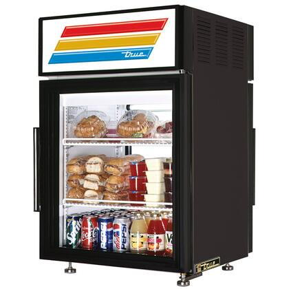 True GDM-5PT Pass-Thru Counter-Top Refrigerator Merchandiser with 5 Cu. Ft. Capacity, LED Lighting, and Thermal Insulated Glass Swing-Door