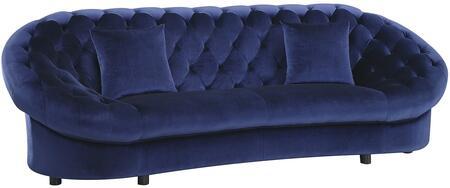 Coaster 511042 Romanus Series Stationary Velvet Sofa