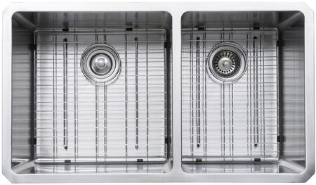 """Kraus KHU10333KPF2230KSD30 Precision Series 33"""" 60/40 Double-Bowl Kitchen Sink with Stainless Steel Construction, NoiseDefend, and Included Pull-Down Kitchen Faucet"""