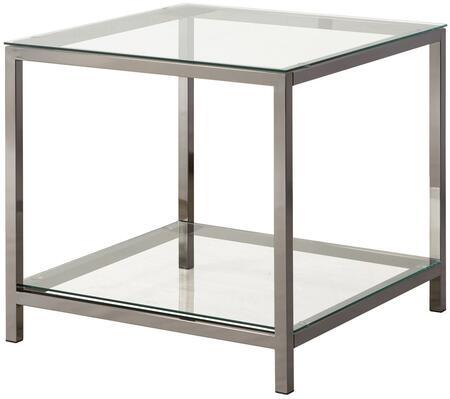 Coaster 720227 Transitional Metal Rectangular None Drawers End Table