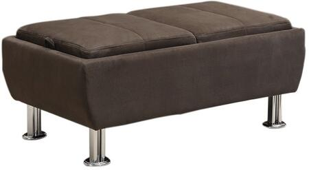Coaster 300278 Ellwood Series Contemporary Microfiber Wood Frame Ottoman