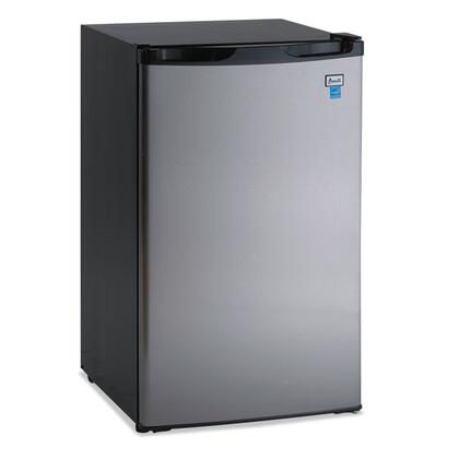 "Avanti RM4436SS 20"" Compact Refrigerator with 4.4 cu. ft. Capacity in Black with Stainless Steel Door"