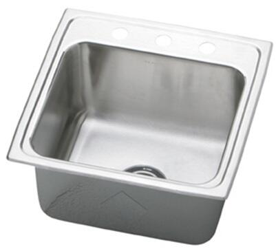 "Elkay DLR221910 Gourmet Lustertone Stainless Steel 22"" x 19-1/2"" Single Basin Kitchen Sink Stainless Steel:"