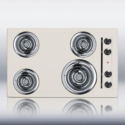 """Summit SEL05 30""""  Bisque 4 Element Electric Cooktop"""
