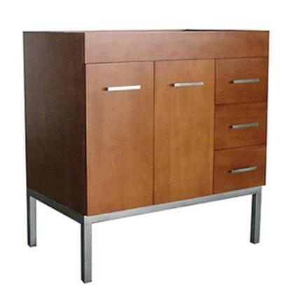 "Ronbow 0370366L Venus 36"" Wood Vanity Cabinet with 2 Doors On Left, 1 Hidden Drawer and 3 Side Drawers:"
