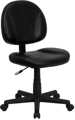 Flash Furniture BT688BKXGG Mid-Back Black Bonded Leather Ergonomic Task Chair